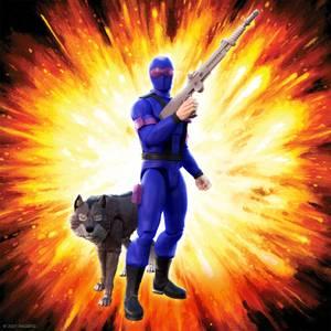 Super7 G.I. Joe ULTIMATES! Figure - Snake Eyes with Timber