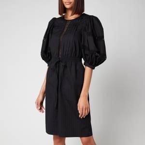 See By Chloé Women's Cotton Poplin Puff Sleeve Dress - Black