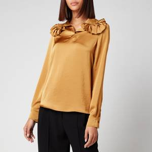 See By Chloé Women's Frill Collar Blouse - Baroque Brown