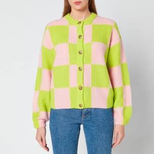 Stine Goya Women's Harry Fair Isle Knit Cardigan - Line Check