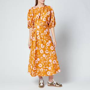 Stine Goya Women's Aubrie Midi Dress - Euphoria Orange