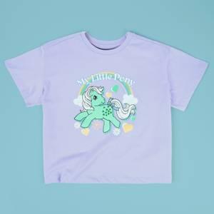 My Little Pony Minty Retro Women's Cropped T-Shirt - Lilac