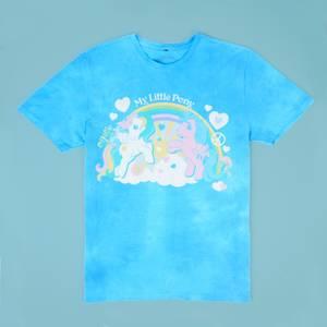 My Little Pony Retro Rainbow Unisex T-Shirt - Turquoise Tie Dye