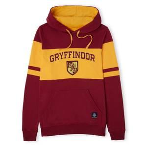 Gryffindor House Panelled Hoodie - Burgundy