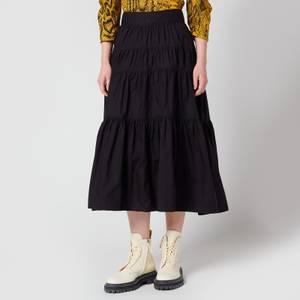 Proenza Schouler Women's Poplin Tiered Skirt - Black