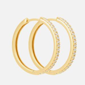 Astrid & Miyu Women's Crystal Hinge Hoops In Gold - Gold