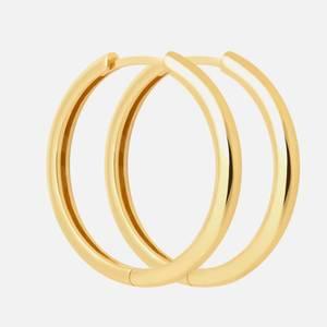 Astrid & Miyu Women's Simple Hinge Hoops In Gold - Gold