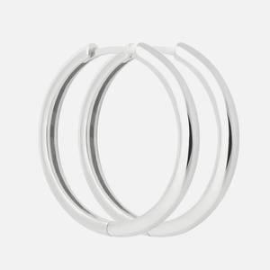 Astrid & Miyu Women's Simple Hinge Hoops In Silver - Silver