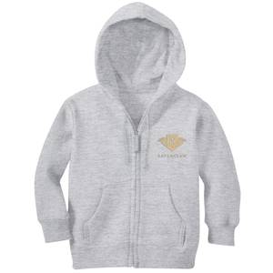 Harry Potter Ravenclaw Embroidered Kids' Zip Hoodie - Grey