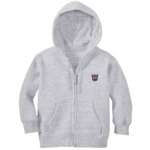 Transformers Decepticon Embroidered Kids' Zip Hoodie - Grey
