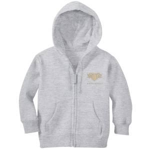 Harry Potter Hufflepuff Embroidered Kids' Zip Hoodie - Grey