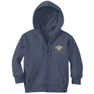 Harry Potter Slytherin Embroidered Kids' Zip Hoodie - Navy