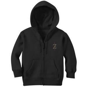 The Legend Of Zelda Sword Embroidered Kids' Zip Hoodie - Black