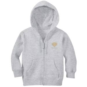 Harry Potter Gryffindor Crest Embroidered Kids' Zip Hoodie - Grey