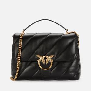 Pinko Women's Love Big Puff Maxy Quilt Shoulder Bag - Black