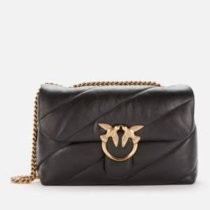Pinko Women's Love Classic Puff Maxy Quilt Shoulder Bag - Black