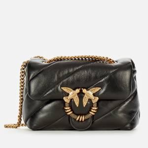 Pinko Women's Love Mini Puff Maxy Quilt Jewel Shoulder Bag - Black