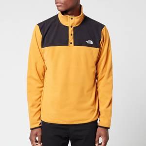 The North Face Men's Tka Glacier Snap Neck Fleece - Citrine Yellow/Black
