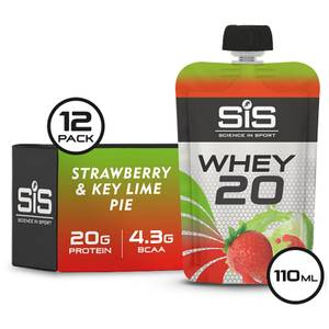 Science in Sport Whey20 Protein Supplement 110g Sachet Pack of 12