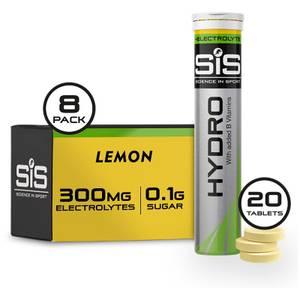 Science in Sport GO Hydro Tablet 8 Tubes of 20 - Lemon