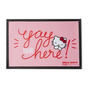 Hello Kitty Yay You're Here Entrance Mat