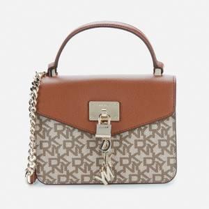 Dkny Women's Elissa - Sm Top Handle Bag - T&C Logo - Chino/Caramel