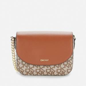 Dkny Women's Felicia - Flap Cross Body Bag - T&C Logo - Chino/Caramel