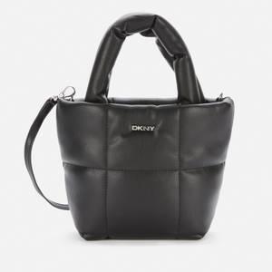 DKNY Women's Poppy - Mini Tote Bag - Nappa Pu - Black/Silver