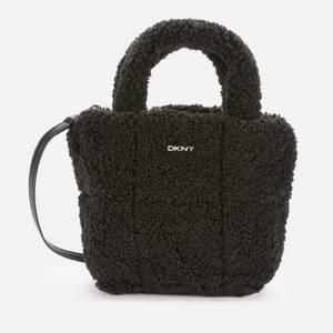 DKNY Women's Poppy - Mini Tote Bag - Shearling - Black