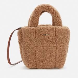 DKNY Women's Poppy - Mini Tote Bag - Shearling - Natural
