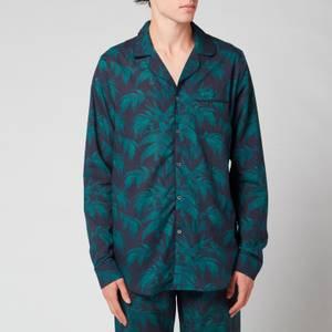 Desmond & Dempsey Men's Byron Collared Shirt - Navy/Green