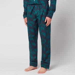 Desmond & Dempsey Men's Byron Trousers - Navy/Green