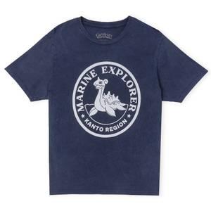 Pokémon Marine Explorer T-shirt Unisexe - Marine Délavé