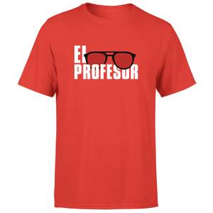 Camiseta La Casa de Papel El Profesor Hombre - Rojo
