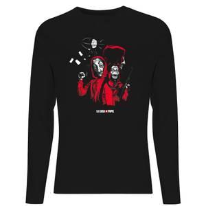 Camiseta de manga larga La Casa de Papel Dali Mask - Negra
