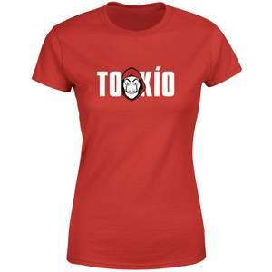 Camiseta de mujer La Casa de Papel Tokio - Rojo
