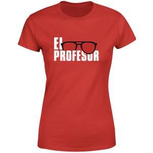 Money Heist El Profesor Women's T-Shirt - Red