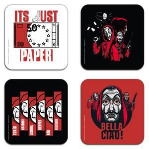 Money Heist Composition Coaster Set