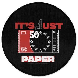 Money Heist It's Just Paper Round Bath Mat