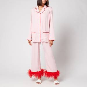 Sleeper Women's Party Pyjama Set With Feathers - Pink
