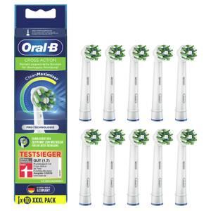 Oral-B CrossAction Aufsteckbürsten mit CleanMaximiser-Borsten für überlegene Reinigung, 10Stück