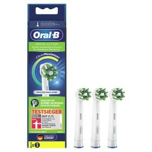 Oral-B CrossAction Aufsteckbürsten mit CleanMaximiser-Borsten für überlegene Reinigung, 3Stück