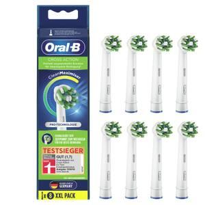 Oral-B CrossAction Aufsteckbürsten mit CleanMaximiser-Borsten für überlegene Reinigung, 8Stück