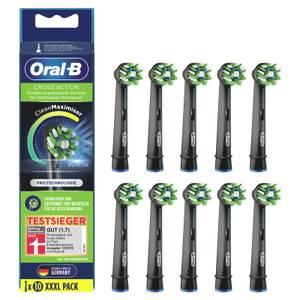 Oral-B CrossAction Black Edition Aufsteckbürsten mit CleanMaximiser-Borsten für überlegene Reinigung, 10Stück