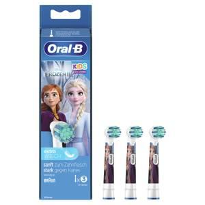 Oral-B Kids Frozen Aufsteckbürsten für elektrische Zahnbürsten, extra weiche Borsten, für Kinder ab 3Jahren, 3 Stück