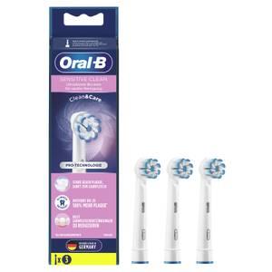 Oral-B Sensitive Clean Aufsteckbürsten mit ultra-dünnen Borsten für sanfte Reinigung, 3Stück