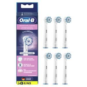 Oral-B Sensitive Clean Aufsteckbürsten mit ultra-dünnen Borsten für sanfte Reinigung, 6Stück