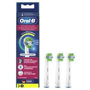 Oral-B Tiefenreinigung Aufsteckbürsten mit CleanMaximiser-Borsten für tiefe Reinigung zwischen den Zähnen, 3Stück