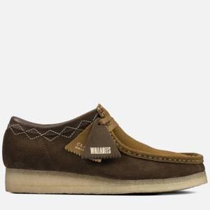 Clarks Originals Men's Stitch Pack' Suede Wallabee Shoes - Green Combi