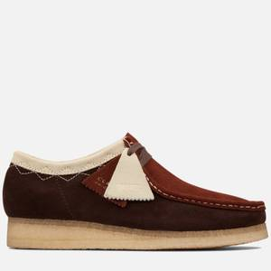 Clarks Originals Men's Stitch Pack' Suede Wallabee Shoes - Dark Tan Combi